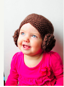 Princess Leia Hat/Wig for Babies