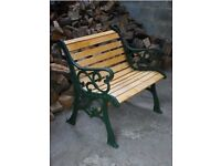 Large Heavy Cast iron Garden Bench / Chair