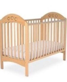 Mothercare pine cot and mattress
