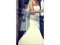 Allure ivory wedding gown