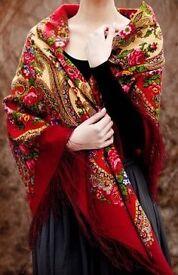 A beautiful Russian traditional shawl