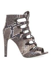 Primark lace up faux snake skin heels