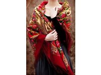 A beautiful Russian traditional shawl