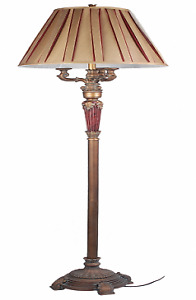 62-inche Floor Lamp in Bronze with Gold Accent