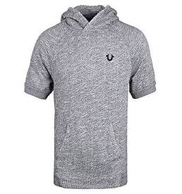 Brand new with tags True Religion Grey Short Sleeve Hooded Sweatshirt RRP £149