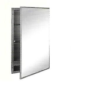 Recessed Medicine Cabinet, type 304, 22 gauge stainless steel