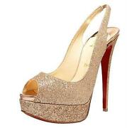 Gold Christian Louboutin Shoes