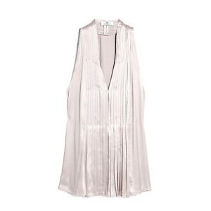 Ladies Designer Nude Silk Pleated Sleeveless Blouse by DAY Birger UK 14
