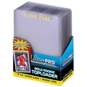 "Ultra Pro 3""x4"" Regular Rookie Gold Toploaders 25 Count Pack Kitchener / Waterloo Kitchener Area image 1"