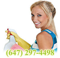 2 EUROPEAN LADIES @ EXCELLENT CLEANING SERVICE. 647 297 4498