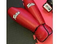Fairtex Size: L Red Muay Thai Shinguards.