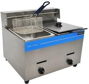 2 BASKET COUNTER TOP PROPANE FRYER - FREE SHIPPING