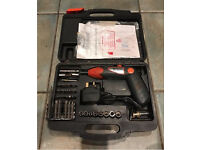CORDLESS ELECTRIC SCREWDRIVER WITH POWER PACK CHARGER DRILL BITS CARRY CASE HEAVY DUTY