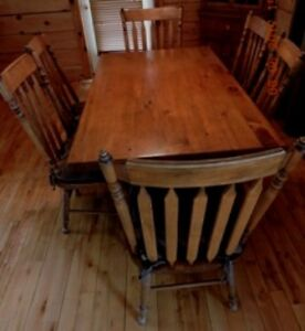 CUSTOM MADE PINE DINING ROOM SET