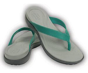 Chaussure tong sandale Crocs grandeur 8 femme rouge vert