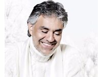 Andrea Bocelli Tickets - BEST SEATS - o2 Arena, London - Saturday 1st October 2016
