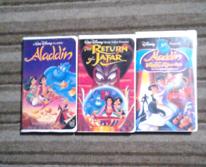 Aladdin movies collections Walt Disney movies on VHS Excellent