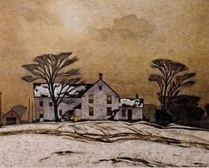 "A.J. Casson ""Farm House"" Lithograph appraised at $800"