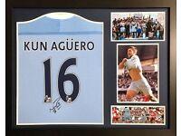 Genuine Signed Sergio Aguero Shirt, League Winners 2011-2012. £20