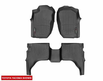 WeatherTech FloorLiner Mat for Toyota Tacoma Double Cab - 2001-2004- Black
