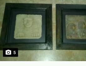 Egyptian 3d frames art x 2