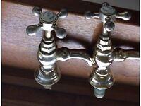 Solid brass sink taps