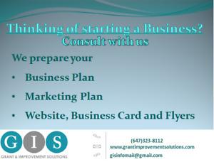 Business Plan, Marketing Plan, Website, Business Cards, Flyers