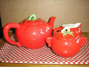 Pantry Parade Tomato Ware Tea Set