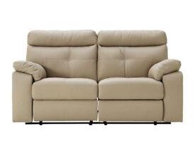 Cameron 3 Seater Leather Sofa - Taupe.