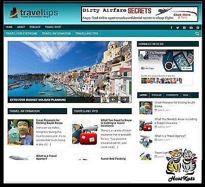 Travel Niche Blog  Affiliate Income Free Domain Free Hosting Free Setup