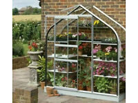 Brand New Halls Supreme curved Wall Greenhouse Garden lean to. We haven't a large enough wall