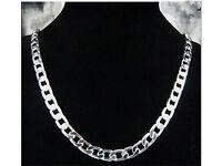 silver solid chain 52cm