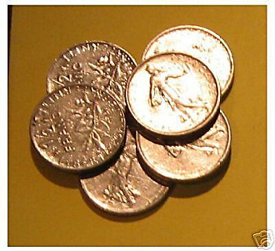 1 x ½ franc  français 1965