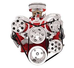 Billet Specialties V-Trac Pulley Systems V3220 SBC Small Block