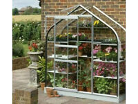 Brand new Halls 6ft X 2ft Supreme curved Wall Greenhouse or Garden lean to. No wall so can't use