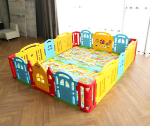 Dwinguler play pen and mat