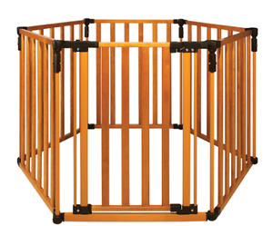 3-in-1 Wooden Superyard Baby/ Pet Gate and Play Yard
