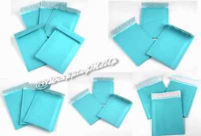 20 -6x10 4x8 Combo Exclusive Aqua Top Quality Self Seal Rigid Bubble Mailers