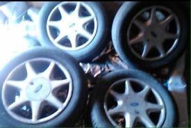 "Ford RS7 7-spoke soft spoke RS 15"" r15 not diamond cut"