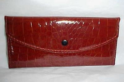Brown Vinyl Flat Wallet In Pack