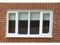 4 panel double glazed window with 2 openings
