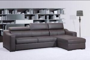 2PC Leatherette sectional / sofa bed storage