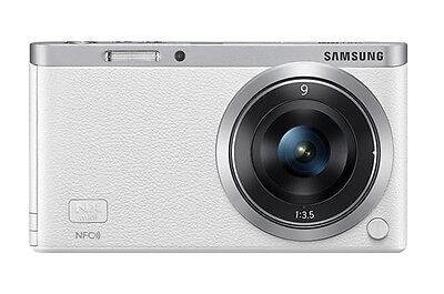 Samsung SMART CAMERA NX Mini Body with 9mm Lens KIT White /20.5MP,W-iFi,NFC NEW