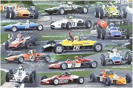 FORMULA FORD CHAMPIONS,Van Dieman, Merlyn, Lotus, Hawke,Royale,Elden,Titan,Lola