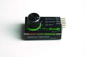 ELE 1x Servo Tester Regler ESC Motor Test STV2.3 Upgrade schwarz gruen Neu