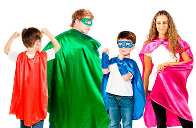 Everfan Superhero Cape - Kids and Adult - 14 Color Options - Adult Superhero Capes