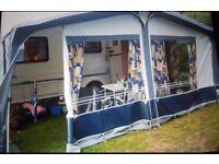 Dorema Caravan Awning 925-950 ...VGC... Inc Carpet /Poles / Connectors / Straps / Curtains in bag