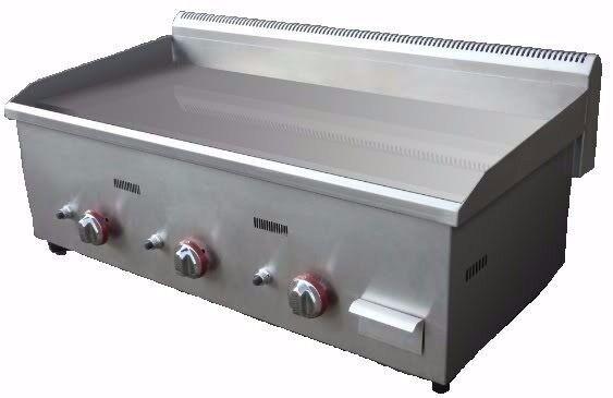 Gas Griddle Grill 1000mm 100cm LPG Or Natural Hot Plate 3 BURNER