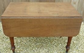 Beautiful Antique Mahogany Pembroke Drop Leaf table with end drawer.