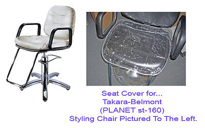 Salon Chair Seat Cover  Clear Vinyl